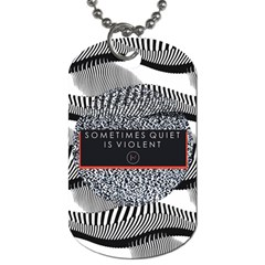 Sometimes Quiet Is Violent Twenty One Pilots The Meaning Of Blurryface Album Dog Tag (one Side) by Onesevenart