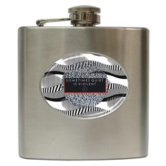 Sometimes Quiet Is Violent Twenty One Pilots The Meaning Of Blurryface Album Hip Flask (6 Oz) by Onesevenart