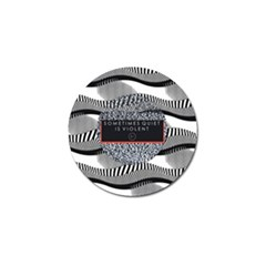 Sometimes Quiet Is Violent Twenty One Pilots The Meaning Of Blurryface Album Golf Ball Marker (10 Pack) by Onesevenart