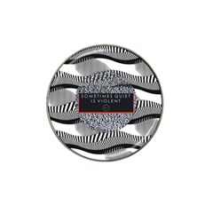 Sometimes Quiet Is Violent Twenty One Pilots The Meaning Of Blurryface Album Hat Clip Ball Marker (4 Pack) by Onesevenart