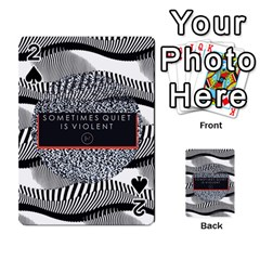 Sometimes Quiet Is Violent Twenty One Pilots The Meaning Of Blurryface Album Playing Cards 54 Designs  by Onesevenart