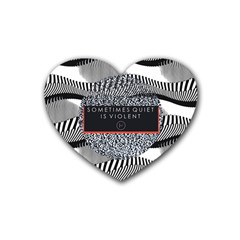 Sometimes Quiet Is Violent Twenty One Pilots The Meaning Of Blurryface Album Rubber Coaster (heart)  by Onesevenart