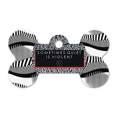 Sometimes Quiet Is Violent Twenty One Pilots The Meaning Of Blurryface Album Dog Tag Bone (one Side) by Onesevenart