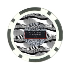 Sometimes Quiet Is Violent Twenty One Pilots The Meaning Of Blurryface Album Poker Chip Card Guards by Onesevenart