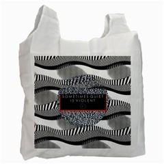 Sometimes Quiet Is Violent Twenty One Pilots The Meaning Of Blurryface Album Recycle Bag (one Side) by Onesevenart