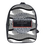 Sometimes Quiet Is Violent Twenty One Pilots The Meaning Of Blurryface Album School Bags(Large)