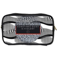 Sometimes Quiet Is Violent Twenty One Pilots The Meaning Of Blurryface Album Toiletries Bags by Onesevenart