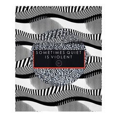 Sometimes Quiet Is Violent Twenty One Pilots The Meaning Of Blurryface Album Shower Curtain 60  X 72  (medium)  by Onesevenart