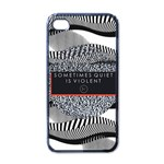 Sometimes Quiet Is Violent Twenty One Pilots The Meaning Of Blurryface Album Apple iPhone 4 Case (Black)