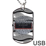 Sometimes Quiet Is Violent Twenty One Pilots The Meaning Of Blurryface Album Dog Tag USB Flash (One Side)