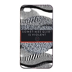 Sometimes Quiet Is Violent Twenty One Pilots The Meaning Of Blurryface Album Apple Iphone 4/4s Seamless Case (black) by Onesevenart
