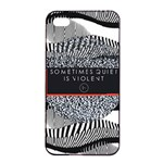 Sometimes Quiet Is Violent Twenty One Pilots The Meaning Of Blurryface Album Apple iPhone 4/4s Seamless Case (Black)