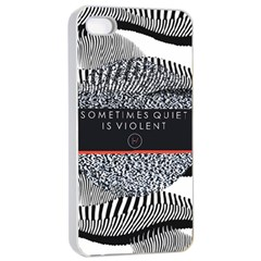 Sometimes Quiet Is Violent Twenty One Pilots The Meaning Of Blurryface Album Apple Iphone 4/4s Seamless Case (white) by Onesevenart