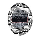 Sometimes Quiet Is Violent Twenty One Pilots The Meaning Of Blurryface Album Oval Filigree Ornament (2-Side)
