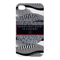Sometimes Quiet Is Violent Twenty One Pilots The Meaning Of Blurryface Album Apple Iphone 4/4s Hardshell Case by Onesevenart