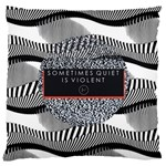 Sometimes Quiet Is Violent Twenty One Pilots The Meaning Of Blurryface Album Large Cushion Case (One Side)