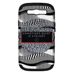 Sometimes Quiet Is Violent Twenty One Pilots The Meaning Of Blurryface Album Samsung Galaxy S Iii Hardshell Case (pc+silicone) by Onesevenart