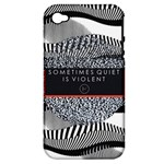 Sometimes Quiet Is Violent Twenty One Pilots The Meaning Of Blurryface Album Apple iPhone 4/4S Hardshell Case (PC+Silicone)