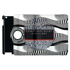 Sometimes Quiet Is Violent Twenty One Pilots The Meaning Of Blurryface Album Apple Ipad 2 Flip 360 Case by Onesevenart