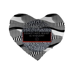Sometimes Quiet Is Violent Twenty One Pilots The Meaning Of Blurryface Album Standard 16  Premium Heart Shape Cushions by Onesevenart