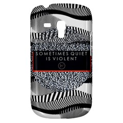 Sometimes Quiet Is Violent Twenty One Pilots The Meaning Of Blurryface Album Samsung Galaxy S3 Mini I8190 Hardshell Case by Onesevenart