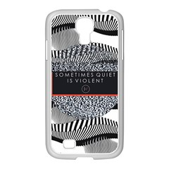 Sometimes Quiet Is Violent Twenty One Pilots The Meaning Of Blurryface Album Samsung Galaxy S4 I9500/ I9505 Case (white) by Onesevenart