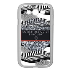 Sometimes Quiet Is Violent Twenty One Pilots The Meaning Of Blurryface Album Samsung Galaxy Grand Duos I9082 Case (white) by Onesevenart