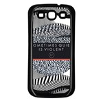 Sometimes Quiet Is Violent Twenty One Pilots The Meaning Of Blurryface Album Samsung Galaxy S3 Back Case (Black)