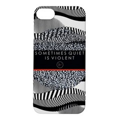Sometimes Quiet Is Violent Twenty One Pilots The Meaning Of Blurryface Album Apple Iphone 5s/ Se Hardshell Case by Onesevenart