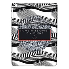 Sometimes Quiet Is Violent Twenty One Pilots The Meaning Of Blurryface Album Ipad Air Hardshell Cases by Onesevenart