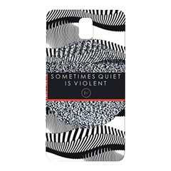 Sometimes Quiet Is Violent Twenty One Pilots The Meaning Of Blurryface Album Samsung Galaxy Note 3 N9005 Hardshell Back Case by Onesevenart