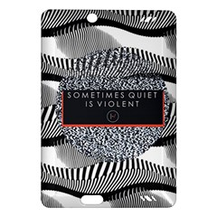 Sometimes Quiet Is Violent Twenty One Pilots The Meaning Of Blurryface Album Amazon Kindle Fire Hd (2013) Hardshell Case by Onesevenart