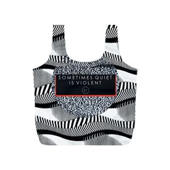 Sometimes Quiet Is Violent Twenty One Pilots The Meaning Of Blurryface Album Full Print Recycle Bags (s)  by Onesevenart