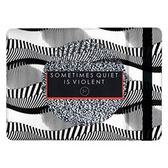Sometimes Quiet Is Violent Twenty One Pilots The Meaning Of Blurryface Album Samsung Galaxy Tab Pro 12 2  Flip Case by Onesevenart