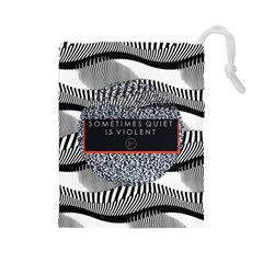 Sometimes Quiet Is Violent Twenty One Pilots The Meaning Of Blurryface Album Drawstring Pouches (large)  by Onesevenart