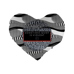 Sometimes Quiet Is Violent Twenty One Pilots The Meaning Of Blurryface Album Standard 16  Premium Flano Heart Shape Cushions by Onesevenart