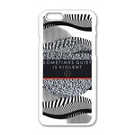 Sometimes Quiet Is Violent Twenty One Pilots The Meaning Of Blurryface Album Apple iPhone 6/6S White Enamel Case