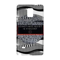 Sometimes Quiet Is Violent Twenty One Pilots The Meaning Of Blurryface Album Samsung Galaxy Note 4 Hardshell Case by Onesevenart