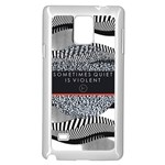Sometimes Quiet Is Violent Twenty One Pilots The Meaning Of Blurryface Album Samsung Galaxy Note 4 Case (White)