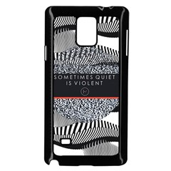 Sometimes Quiet Is Violent Twenty One Pilots The Meaning Of Blurryface Album Samsung Galaxy Note 4 Case (black) by Onesevenart