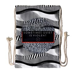Sometimes Quiet Is Violent Twenty One Pilots The Meaning Of Blurryface Album Drawstring Bag (large) by Onesevenart