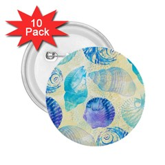 Seashells 2.25  Buttons (10 pack)