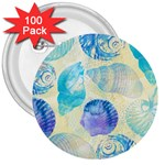 Seashells 3  Buttons (100 pack)  Front