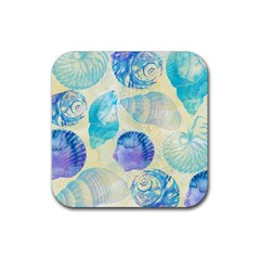 Seashells Rubber Coaster (square)  by DanaeStudio