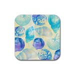 Seashells Rubber Square Coaster (4 pack)  Front