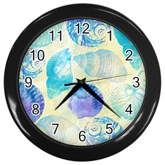 Seashells Wall Clocks (Black)