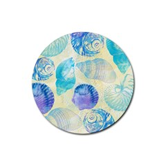 Seashells Rubber Coaster (round)