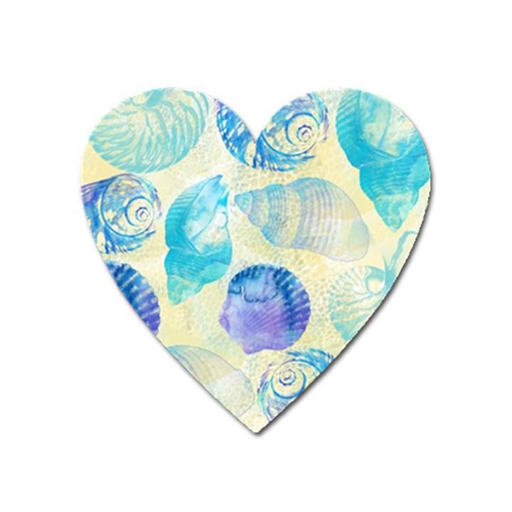 Seashells Heart Magnet