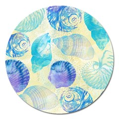 Seashells Magnet 5  (round) by DanaeStudio