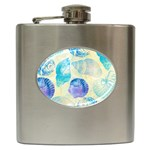 Seashells Hip Flask (6 oz) Front